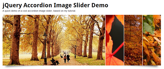 jQuery Accordion Image Slider